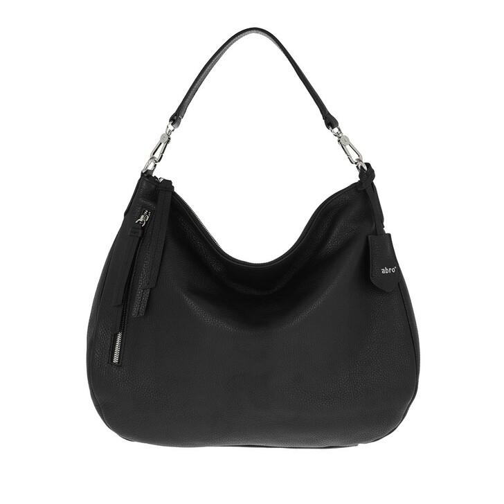 Handtasche, Abro, Beutel JUNA big NOS  black/nickel