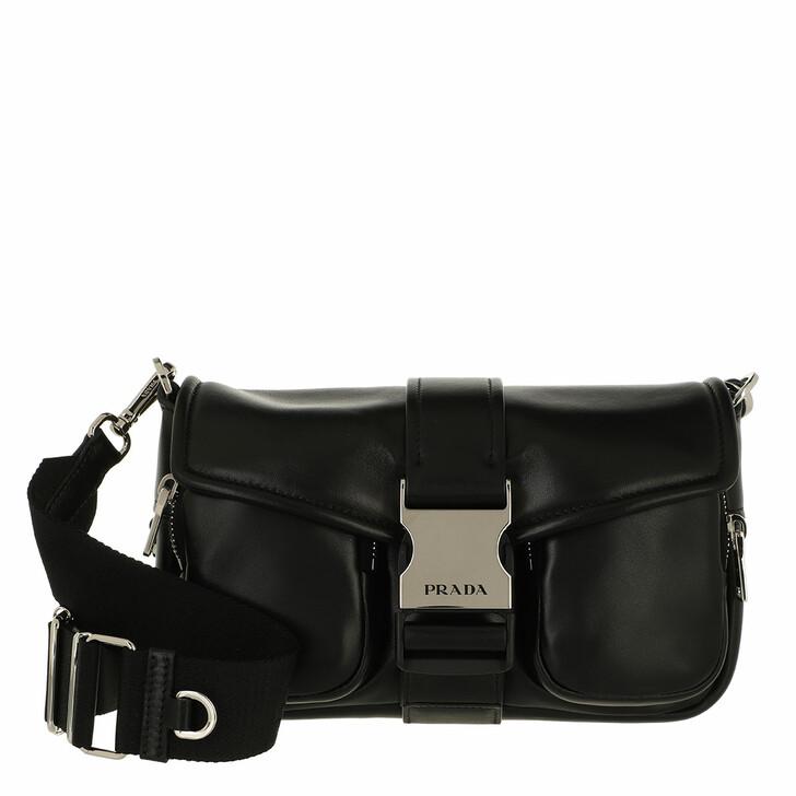 bags, Prada, Pocket Crossbody Bag Black