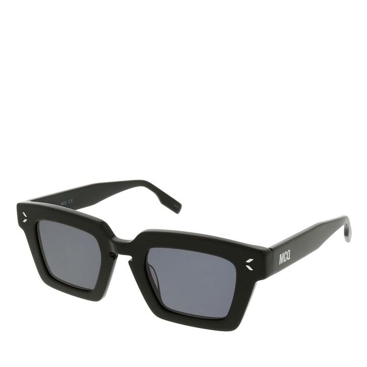 sunglasses, McQ, MQ0325S-001 48 Sunglass Unisex Acetate Black-Black-Smoke
