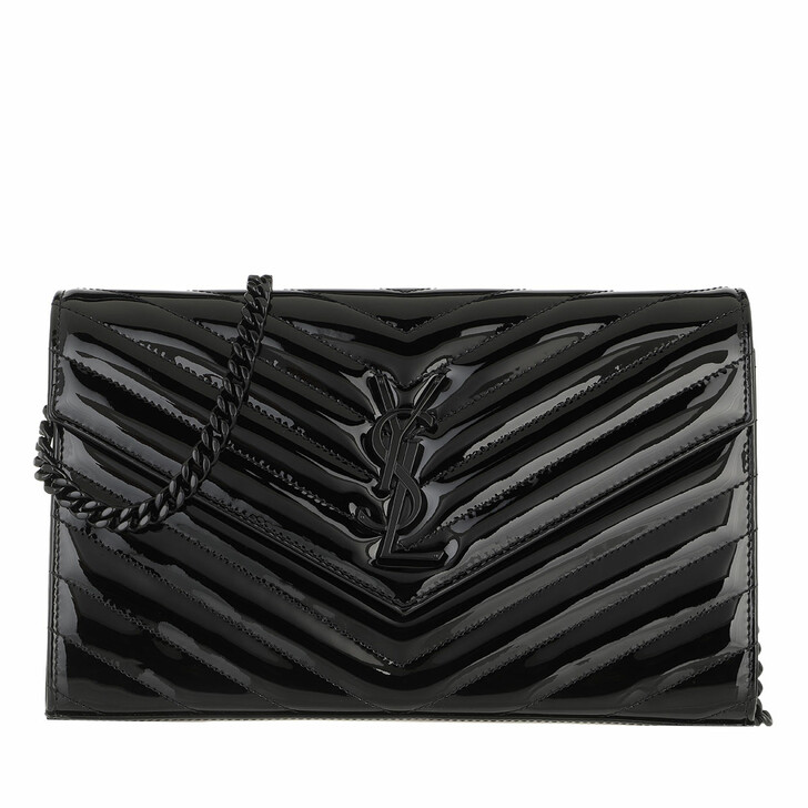 Handtasche, Saint Laurent, Monogramme Chain Wallet Black