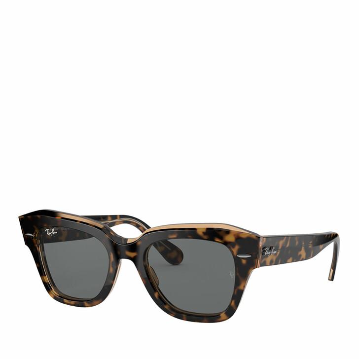 sunglasses, Ray-Ban, 0RB2186 HAVANA ON TRANSPARENT BROWN