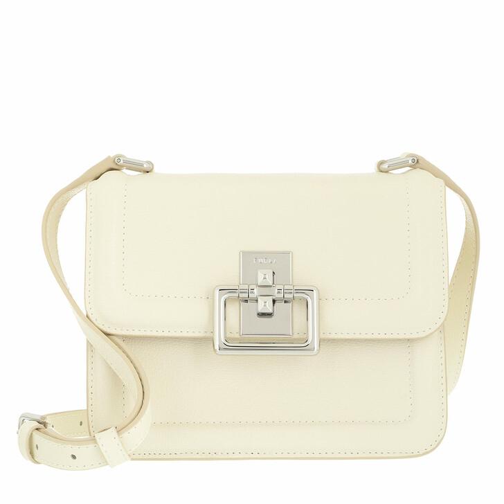 bags, Furla, Furla Villa Mini Crossbody White Cotton
