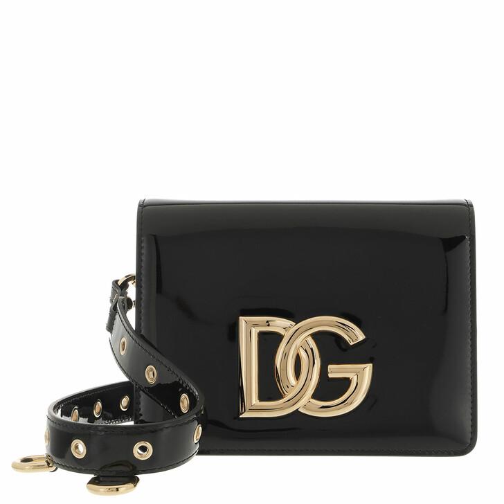 bags, Dolce&Gabbana, Logo Shoulder Bag Black