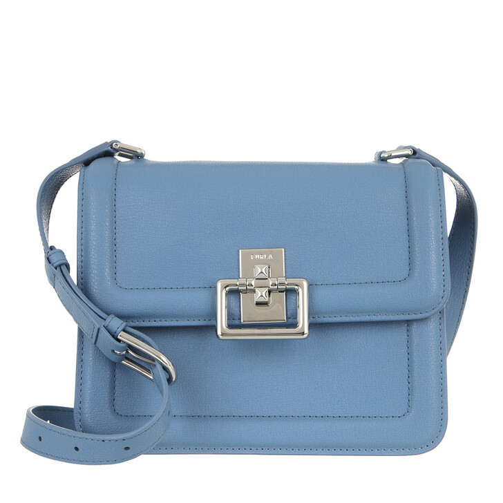bags, Furla, Furla Villa S Crossbody Light Blue