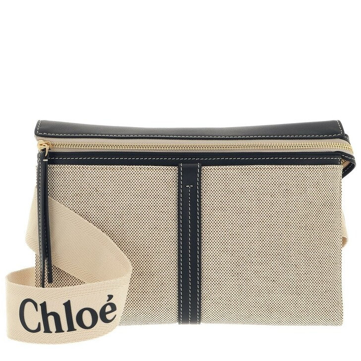bags, Chloé, Small Woody Shoulder Bag White/Blue