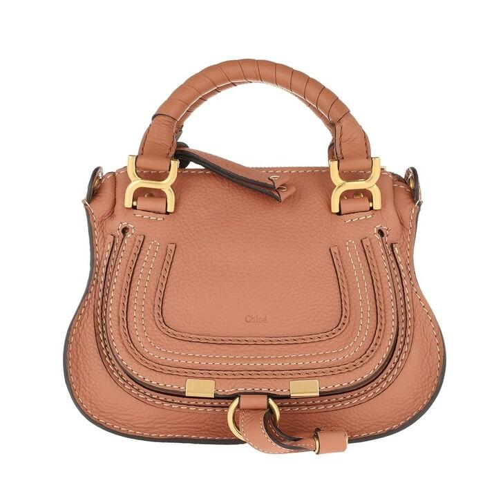 Handtasche, Chloé, Mini Marcie Crossbody Bag Muted Brown