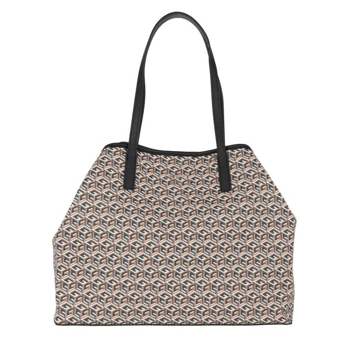 Handtasche, Guess, Vikky Large Tote Bag Mocha Multi