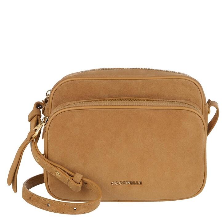 Handtasche, Coccinelle, Handbag Suede Leather Warm Beige