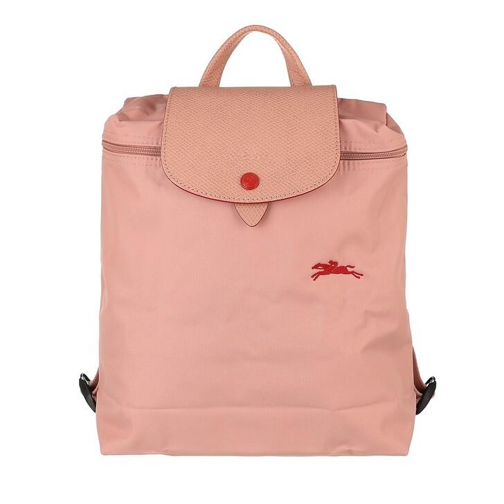 bags, Longchamp, Le Pliage Club Backpack  Rose