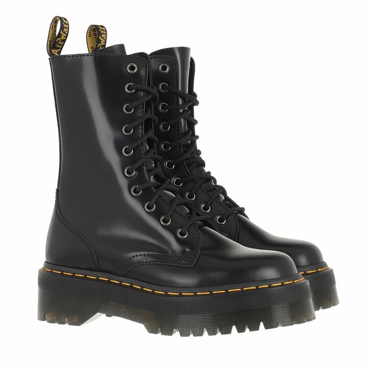 shoes, Dr. Martens, Jadon Hi Polished Smooth Black Polished Smooth