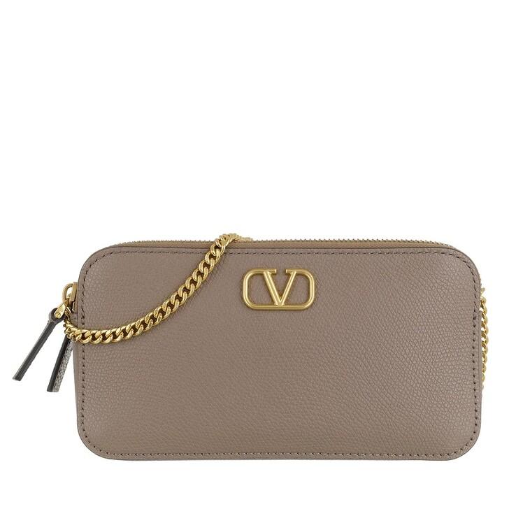 Handtasche, Valentino Garavani, VSLING Pouch Leather Clay