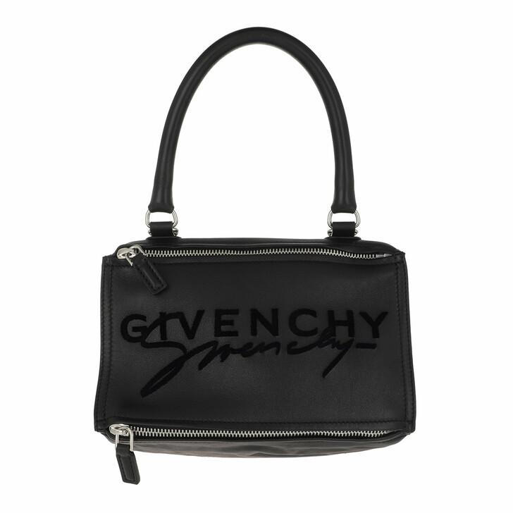 bags, Givenchy, Pandora Logo Tote Bag Leather Black