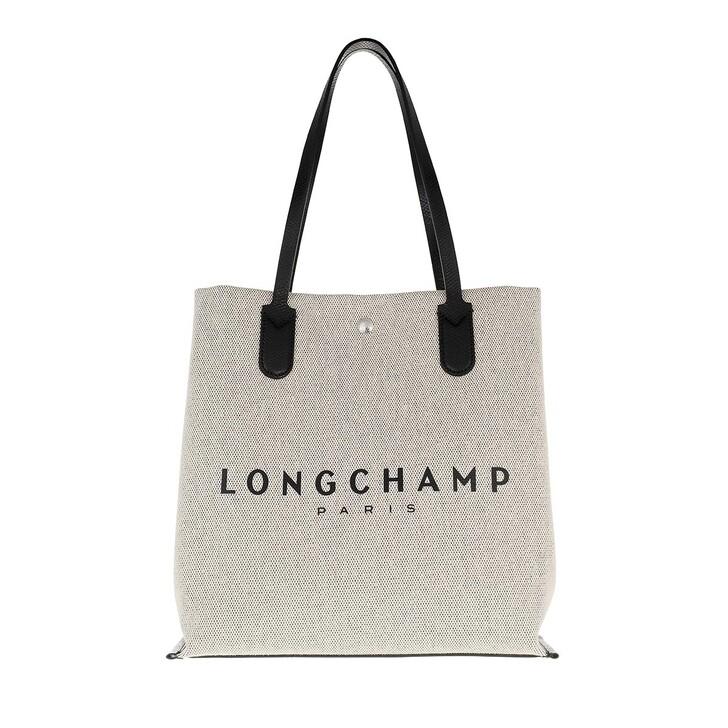 bags, Longchamp, Essential Toile Shoulder Bag Ecru
