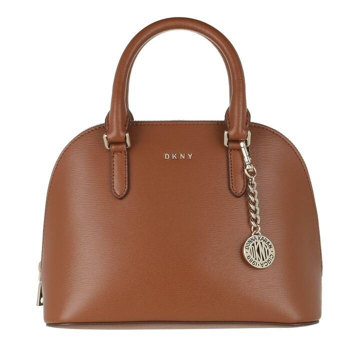 Handtasche, DKNY, Bryant Dome Satchel Caramel