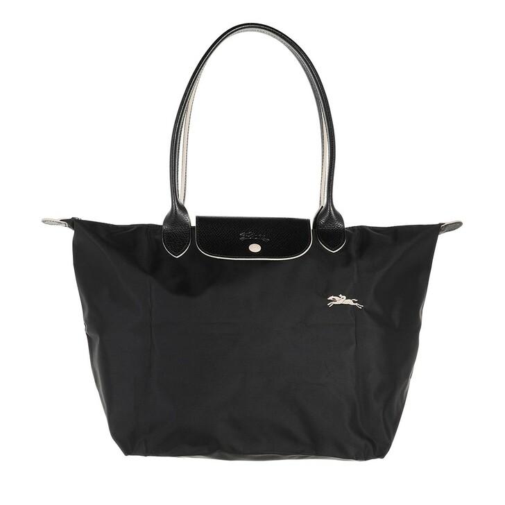 bags, Longchamp, Le Pliage Club Shoulder Bag  Black