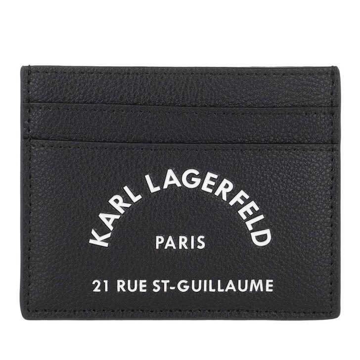 wallets, Karl Lagerfeld, Rue St Guillaume Classic Card Holder Black