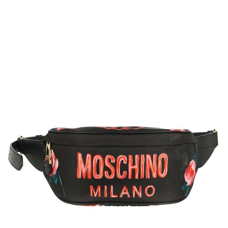 Handtasche, Moschino, Marsupio Fantasia Nero