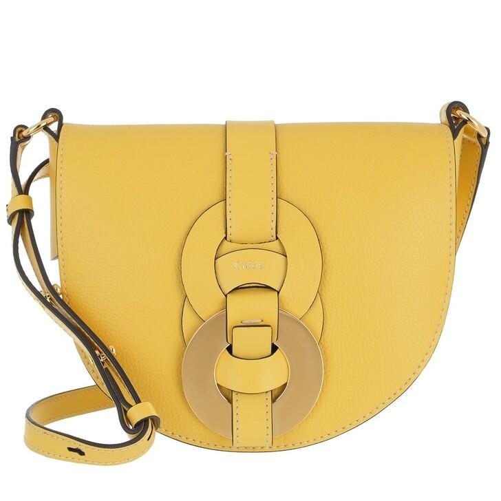 bags, Chloé, Small Darryl Crossbody Bag Calfskin Sultan Yellow