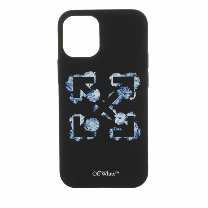 smart_cases, Off-White, Floral Arrows Iphone 12 Pro Black/Blue