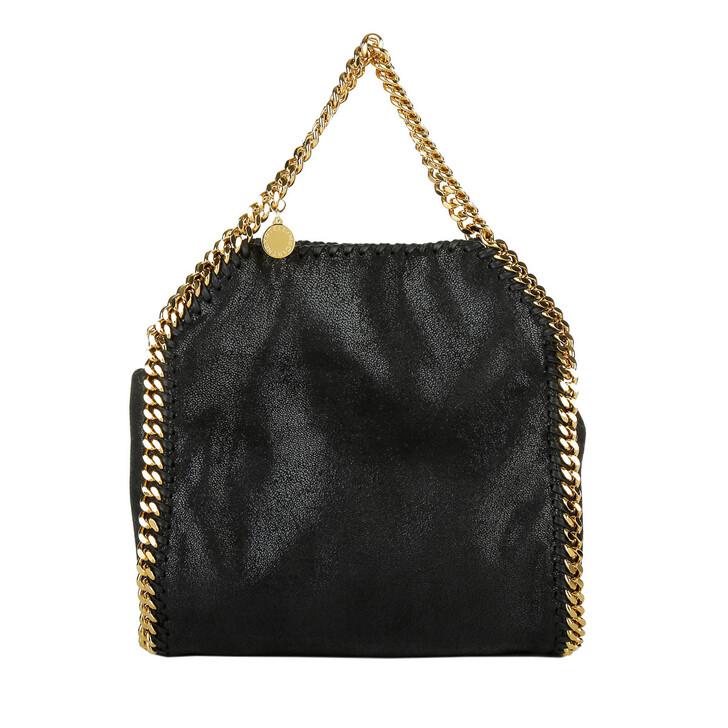 Handtasche, Stella McCartney, Mini Falabella 3Chains Tote Black Gold