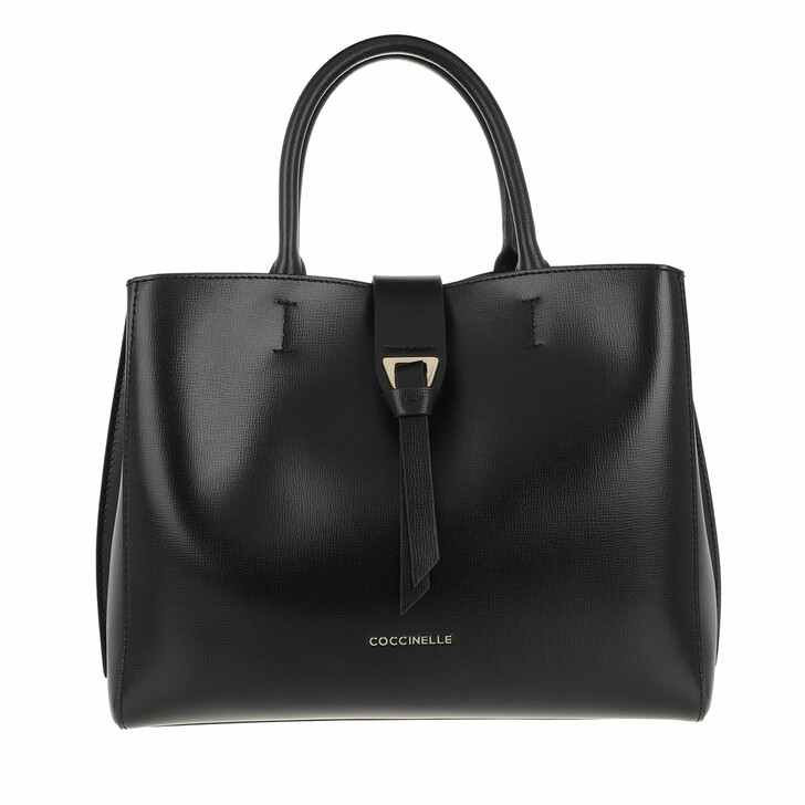 Handtasche, Coccinelle, Alba Textured Satchel Bag Noir