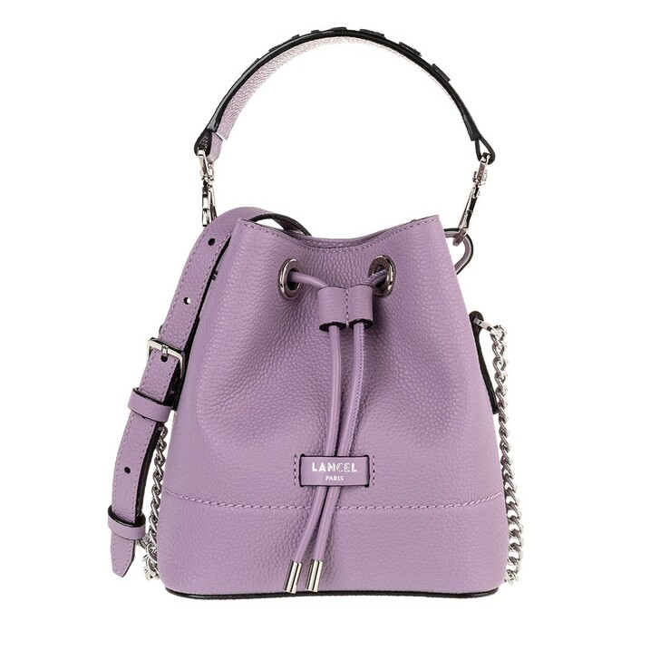 Handtasche, Lancel, Ninon Grained Leather Bucket Bag Mini Mauve
