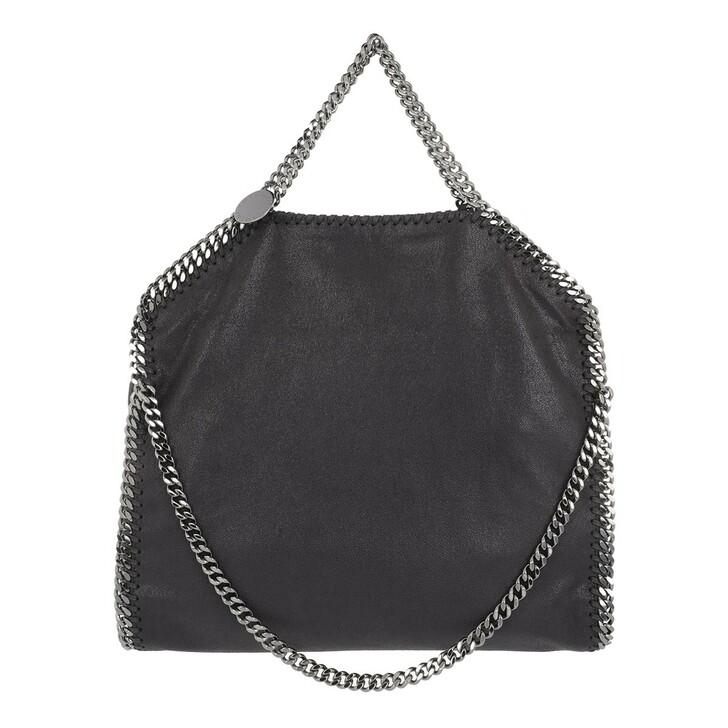 Handtasche, Stella McCartney, Falabella Shaggy Deer Fold Over Tote Bag Slate Grey