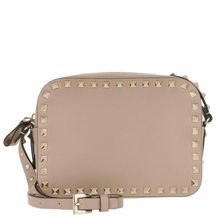 Handtasche, Valentino Garavani, Rockstud Camera Crossbody Bag Poudre