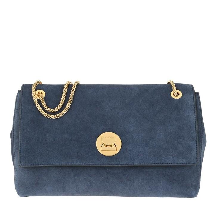 bags, Coccinelle, Liya Suede Crossbody Bag Ink