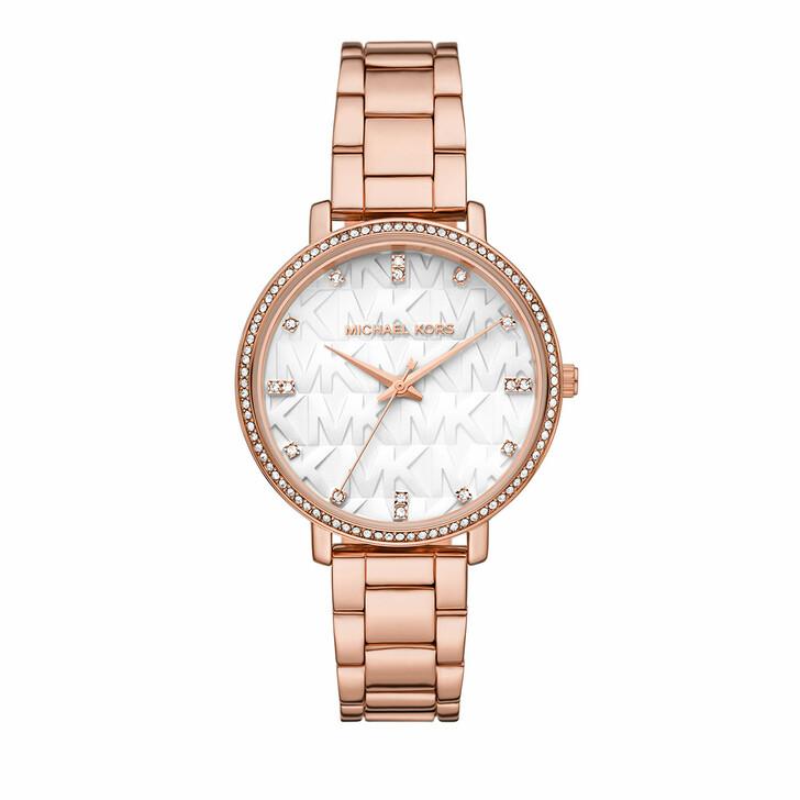 watches, Michael Kors, Women's Pyper Three-Hand Alloy Watch MK4594 Rose Gold