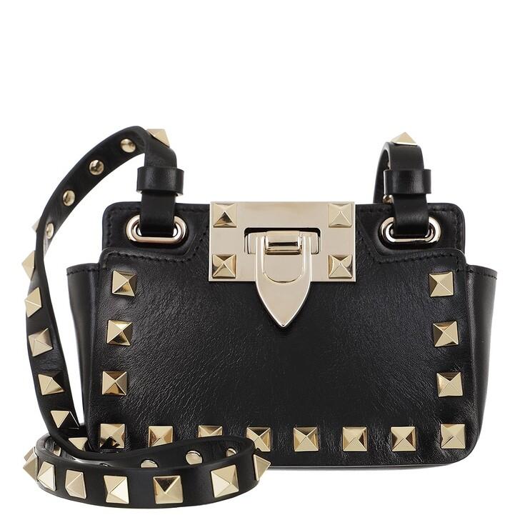 bags, Valentino Garavani, Rockstud Mini Bag Leather Black
