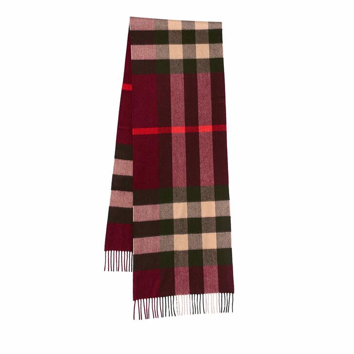 scarves, Burberry, Multi Check Scarf Burgundy