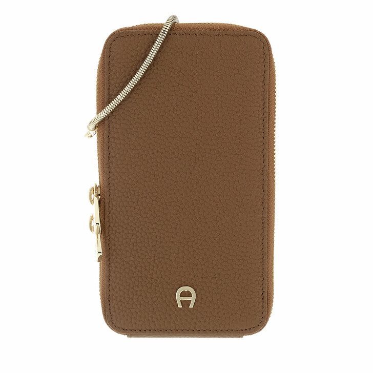 smart_cases, AIGNER, Fashion Mobile Case Dark Toffee Brown