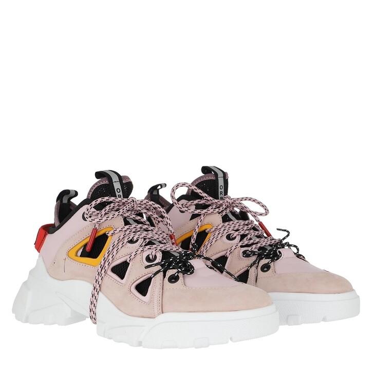 shoes, McQ, Orbyt Mid Sneakers Black Bubblegum Pink