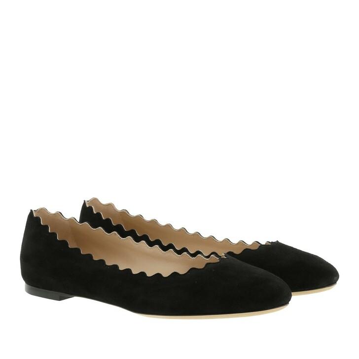 shoes, Chloé, Lauren Ballerina Velvet Black
