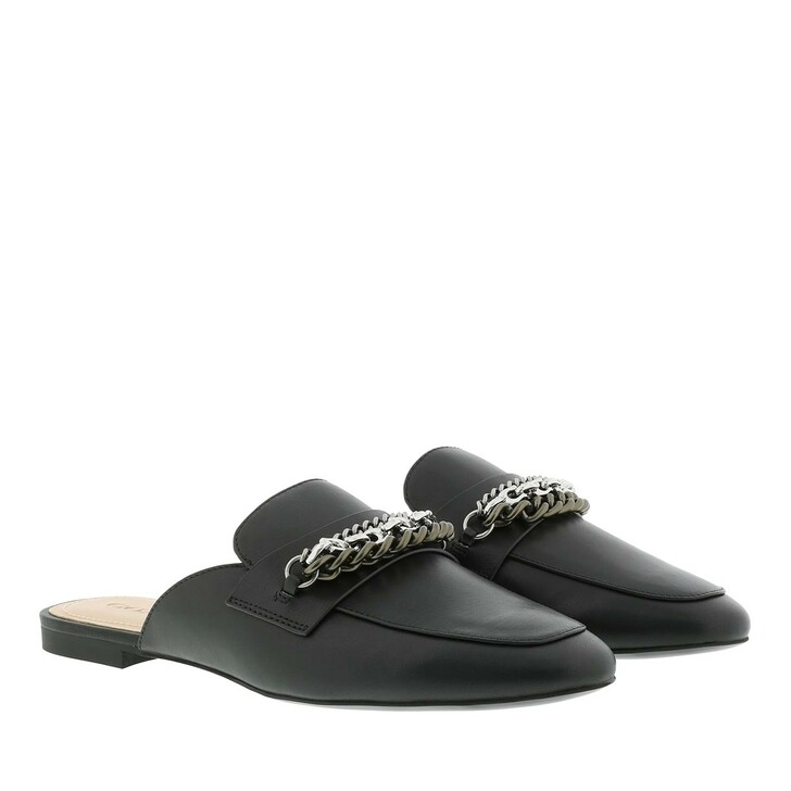 shoes, Coach, Faye Multi Chains Loafer Slide Leather Black