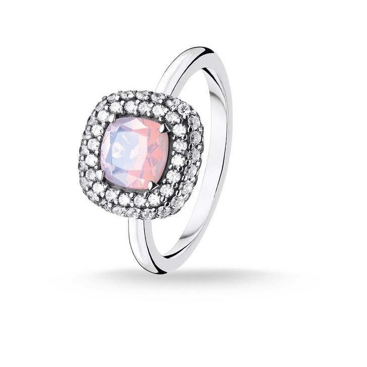 Ring, Thomas Sabo, Ring Shimmering Pink Opal Colour Effect