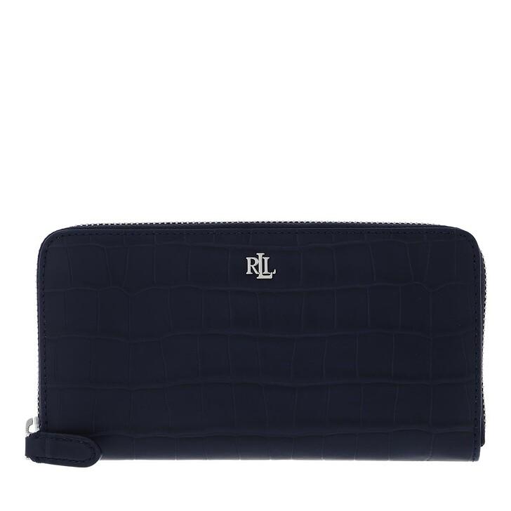 wallets, Lauren Ralph Lauren, Zip Cont Wlt Wallet Large Lauren Navy