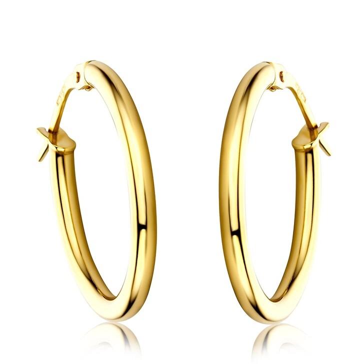 earrings, DIAMADA, 14KT Oval Creole Earring