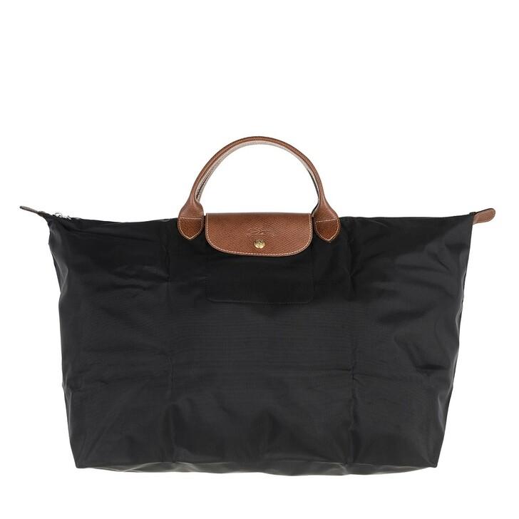 bags, Longchamp, Le Pliage Original Travelbag  Black
