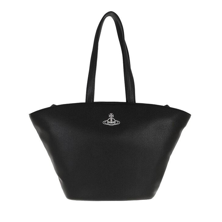 bags, Vivienne Westwood, Johanna Curved Tote Bag Black