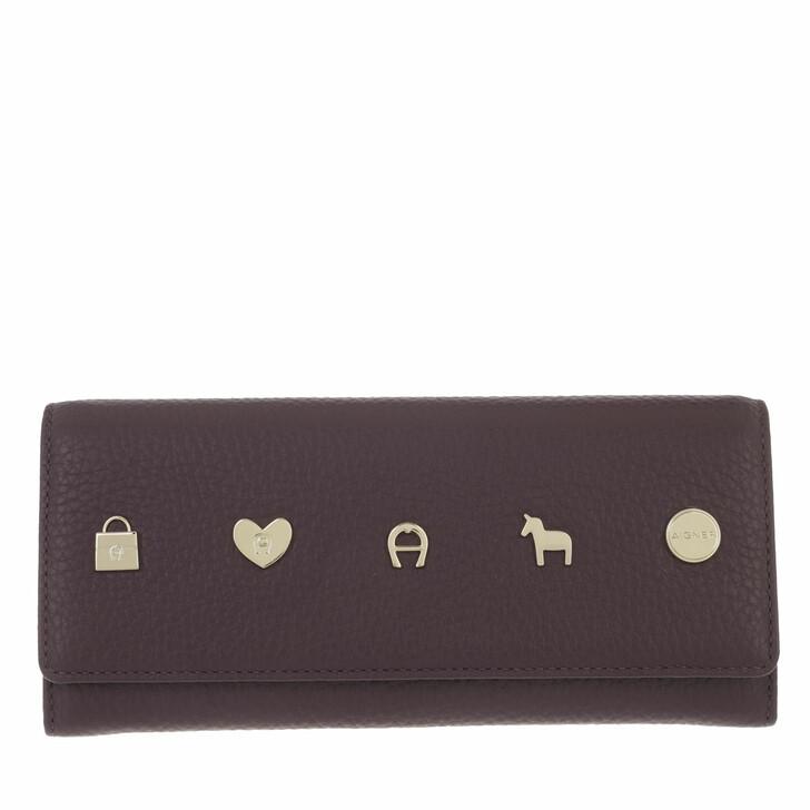 wallets, AIGNER, Fashion Wallet Plum