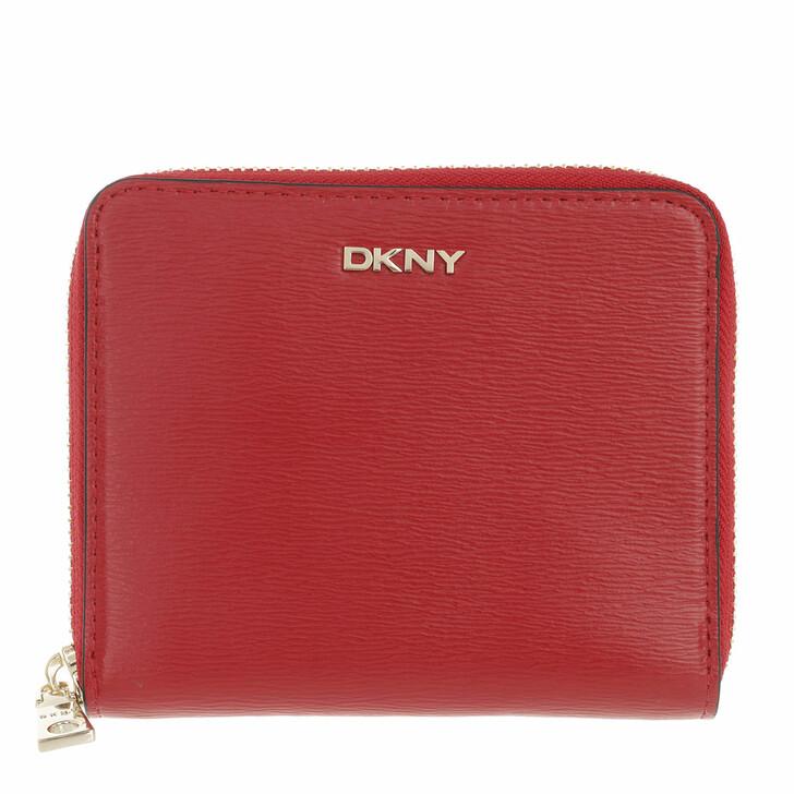 wallets, DKNY, Bryant Sm Zip Around Bright Red