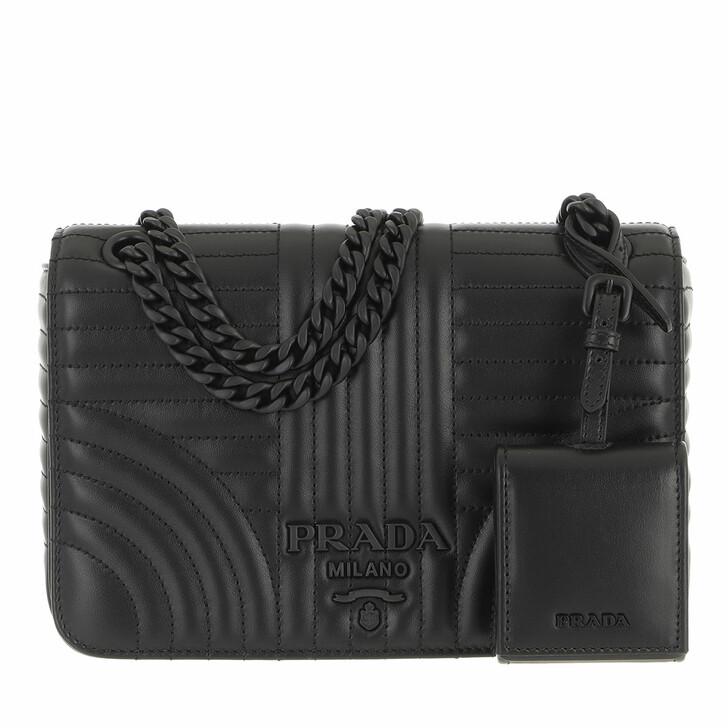 bags, Prada, Diagramme Crossbody Bag Black