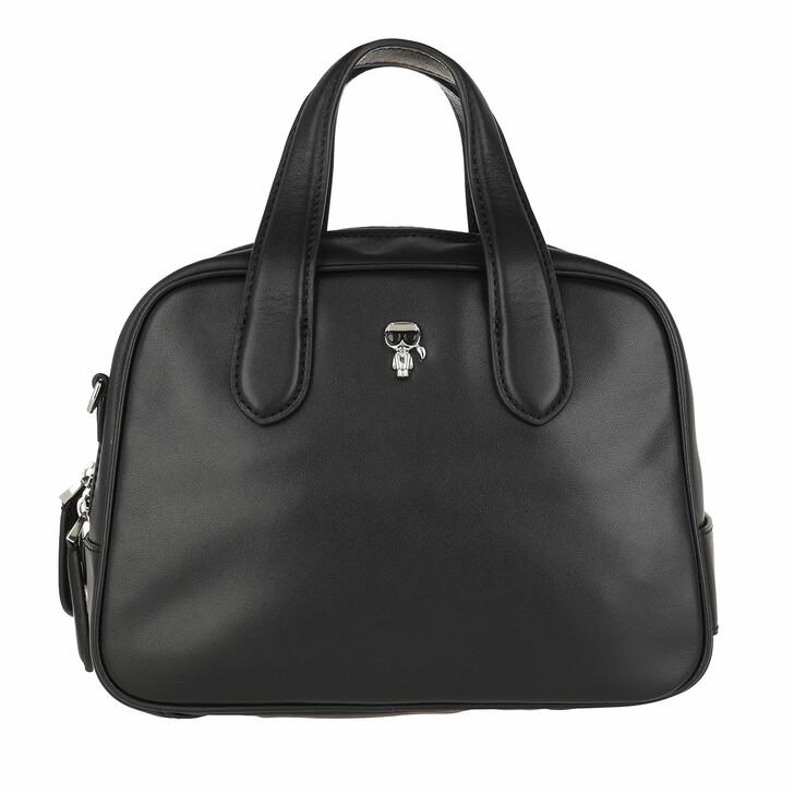 bags, Karl Lagerfeld, K/Ikonik 3d Pin Duffle Black