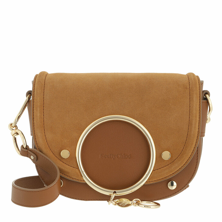 bags, See By Chloé, Mara Shoulder Bag Leather Caramel