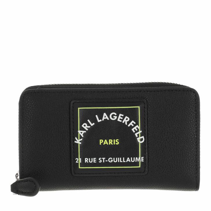 wallets, Karl Lagerfeld, Medium Fold Wallet  Black