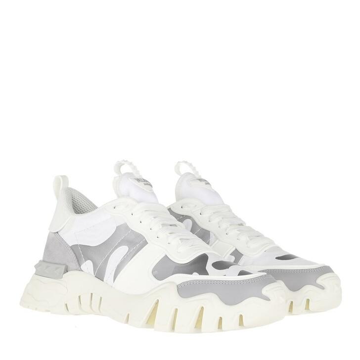 Schuh, Valentino Garavani, Low Top Sneaker Bianco/Silver/Pastel
