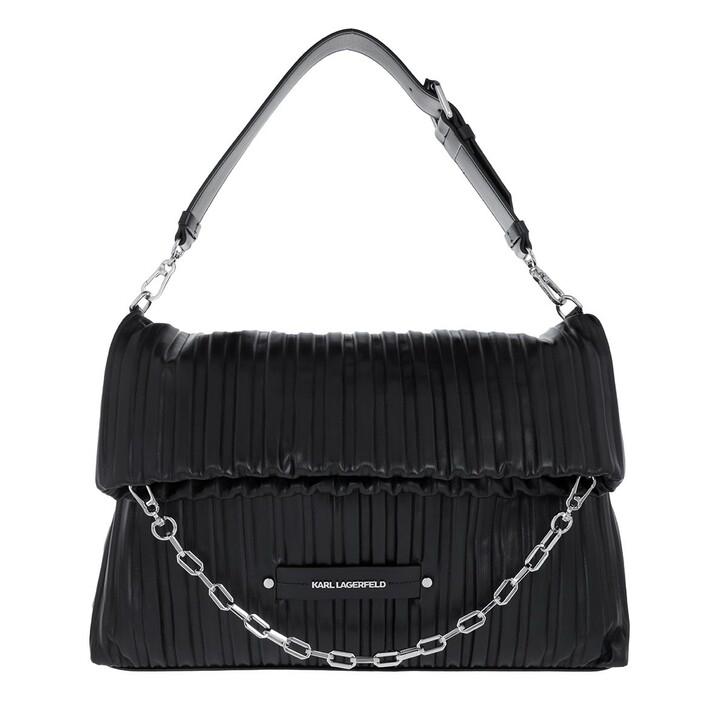 bags, Karl Lagerfeld, Kushion Folded Tote Black