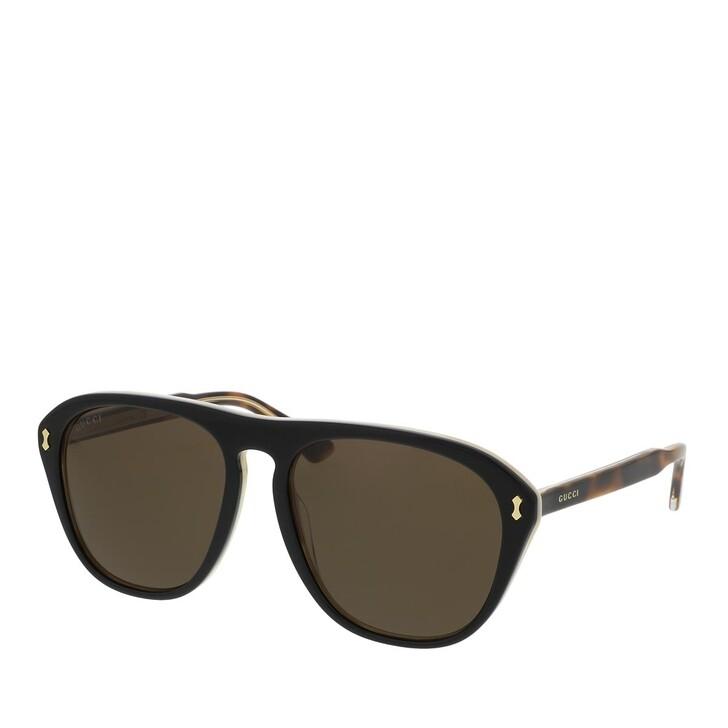 Sonnenbrille, Gucci, GG0128S-004 56 Sunglass MAN ACETATE BLACK